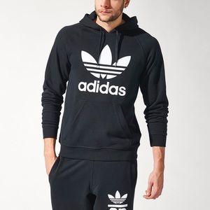 Adidas Original Trefoil Hoodie Black Pullover FIRM NWT